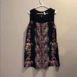 Black, floral dress